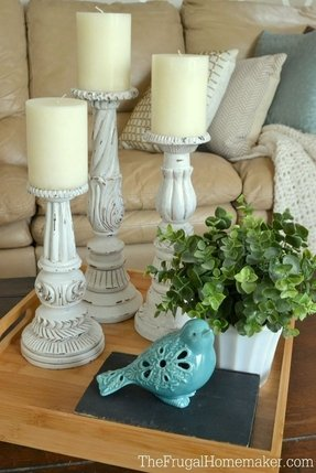 White candlestick lamp 11