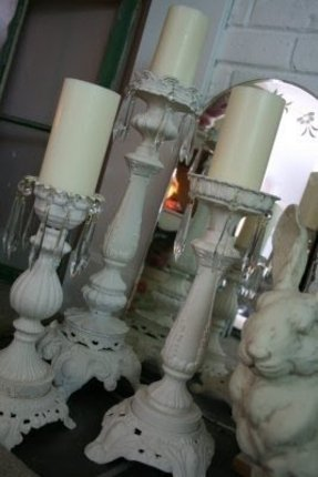 White candlestick lamp 3
