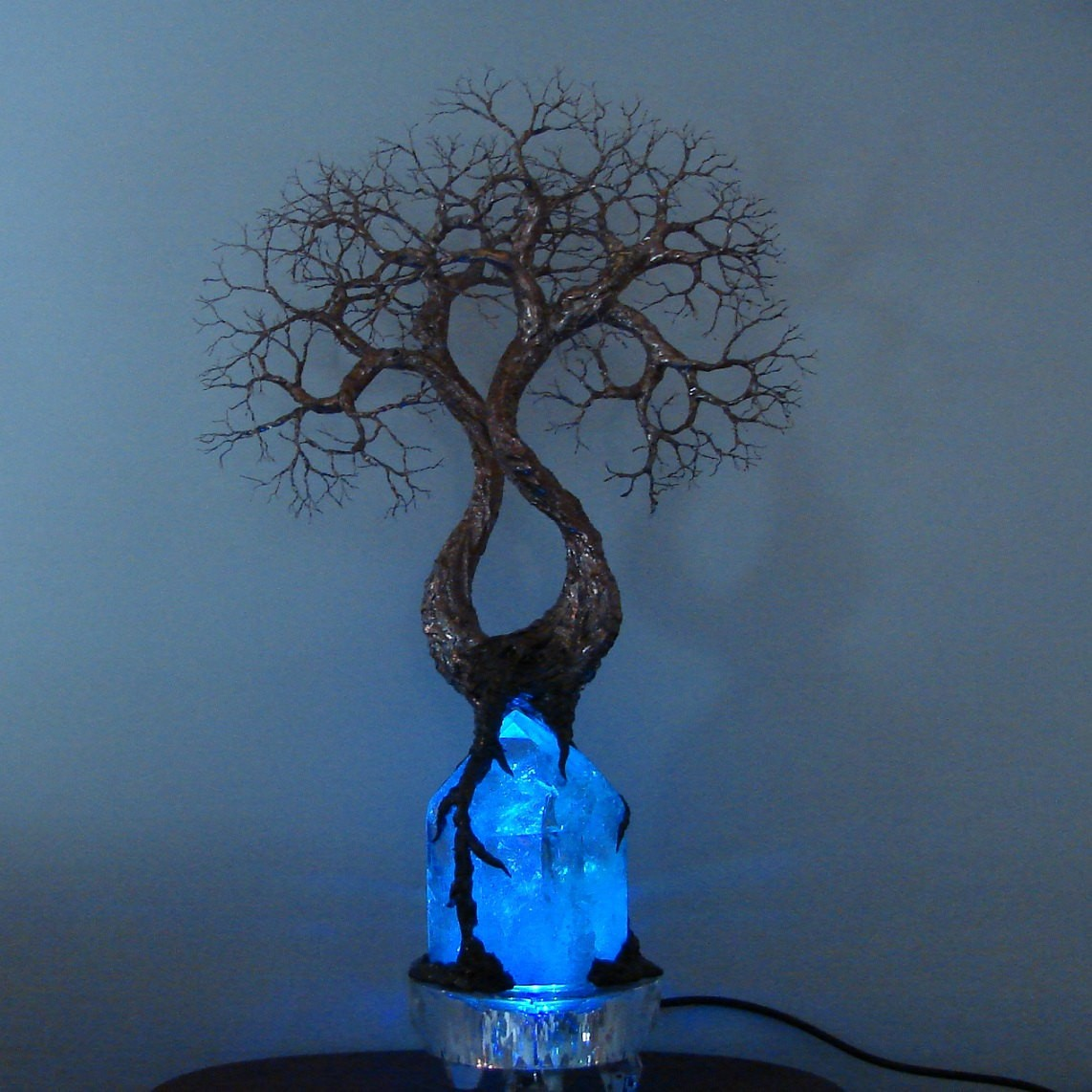 Wire tree of life sculpture soul mate