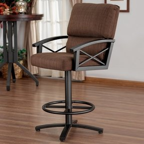 Amsterdam Swivel 26 Counter Height Barstool With Arms