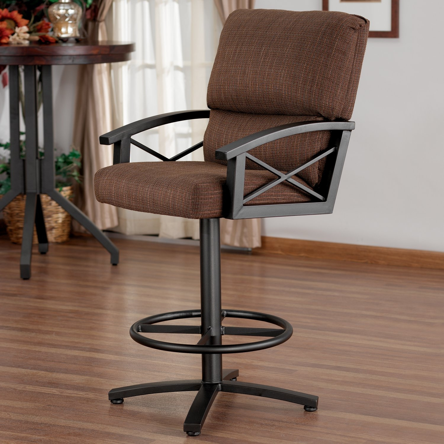 Merveilleux Amsterdam Swivel 26 Counter Height Barstool With Arms