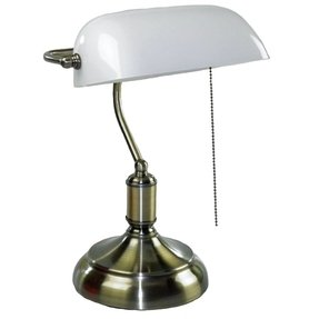 Antique bankers lamps