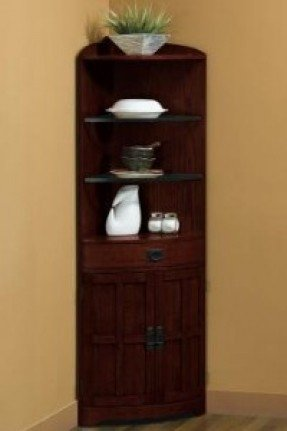 Corner Bakers Rack With Cabinet 2 .