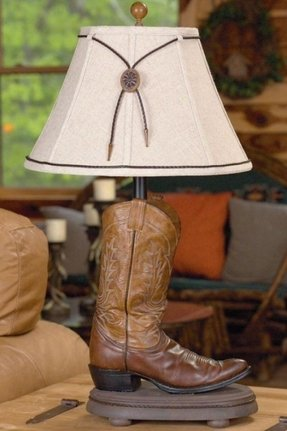 Cowboy boot lamp foter for Western table lamps living room