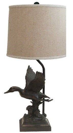 Duck desk lamp or table lamp flying mallard duck theme