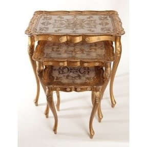 Gold nesting tables 8