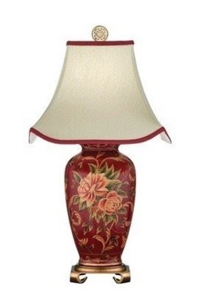 Hand painted porcelain lamps table 1