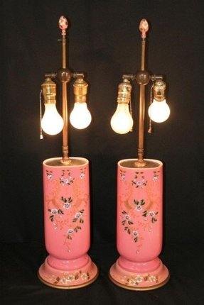 Hand painted porcelain lamps table 6