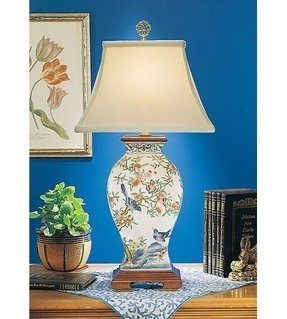 Hand painted porcelain lamps table