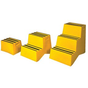 Industrial polyethylene step stool 3 step 29 height yellow