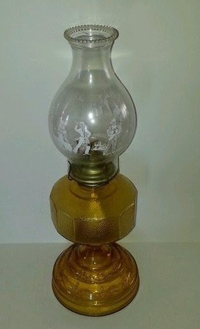 Kerosene lamp chimney glass