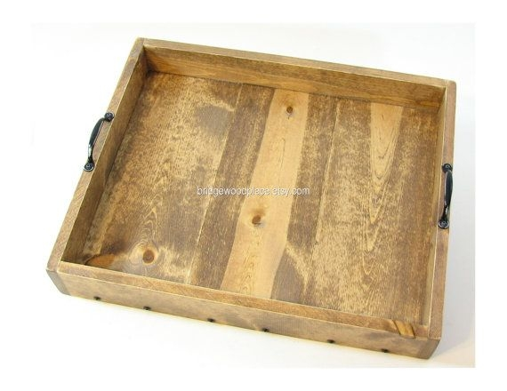 Ottoman Tray Large Wood Coffee Table Tray Serving Tray Wedding