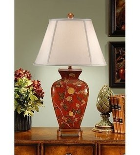 Painted table lamps