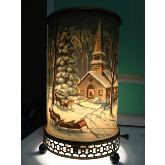 Vintage 1957 econolite motion lamp 766 7 winter snow scene