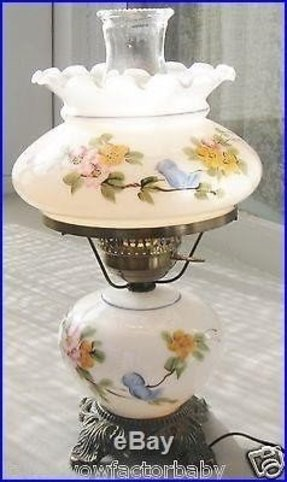 Vintage fenton hand painted milk glass gone with the wind