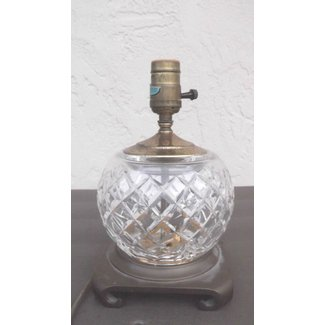 Vintage waterford crystal small table lamp boudoir dresser light