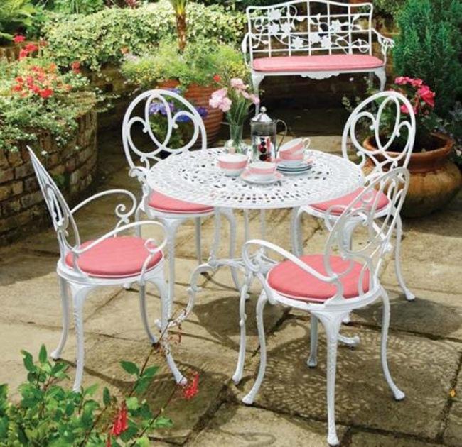 White patio furniture sets 1 & White Patio Furniture Sets - Foter