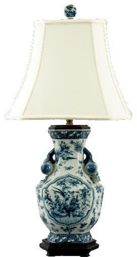 Asian blue and white porcelain lamp asian table lamps