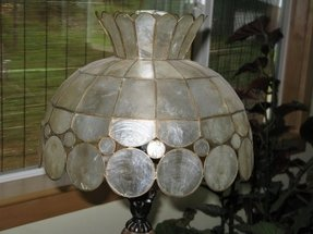 Capiz shell lamp shade 1