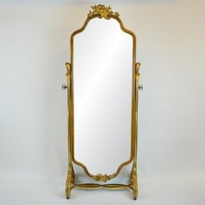 Cheval mirror with gilded detailing c 1900 midcentury mirrors