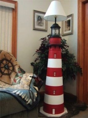 Custom crafted lighthouse floor lamps no beach house or coastal