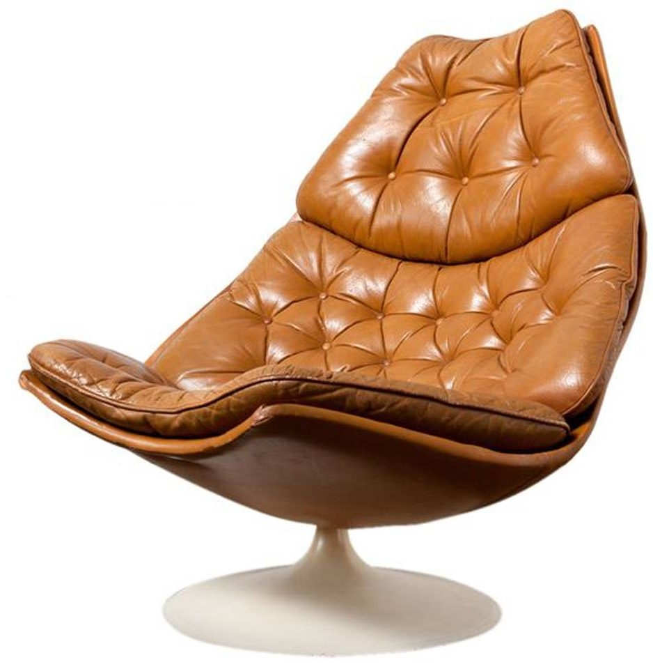 Geoffrey Harcourt Artifort F584 Swivel Lounge Chair