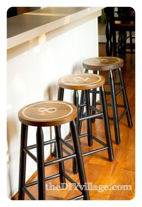 Hand painted bar stools 7