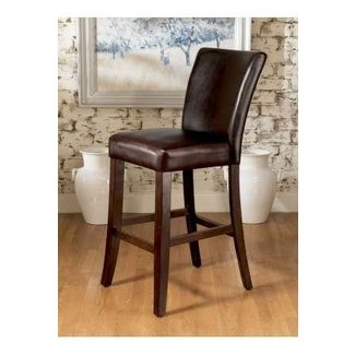 Leather top grain bar stools