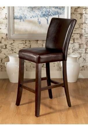Attrayant Leather Top Grain Bar Stools
