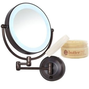 Lighted makeup mirror wall mount battery operated foter lighted makeup mirror wall mount battery operated aloadofball Choice Image