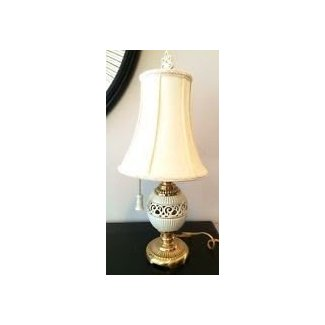 New listing lenox by quoizel table lamps porcelain pulls boudoir
