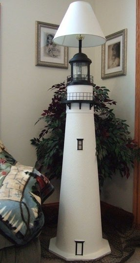 Oak lighthouse floor lamp 1