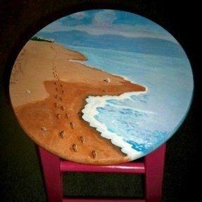 Terrific Hand Painted Bar Stools Ideas On Foter Cjindustries Chair Design For Home Cjindustriesco