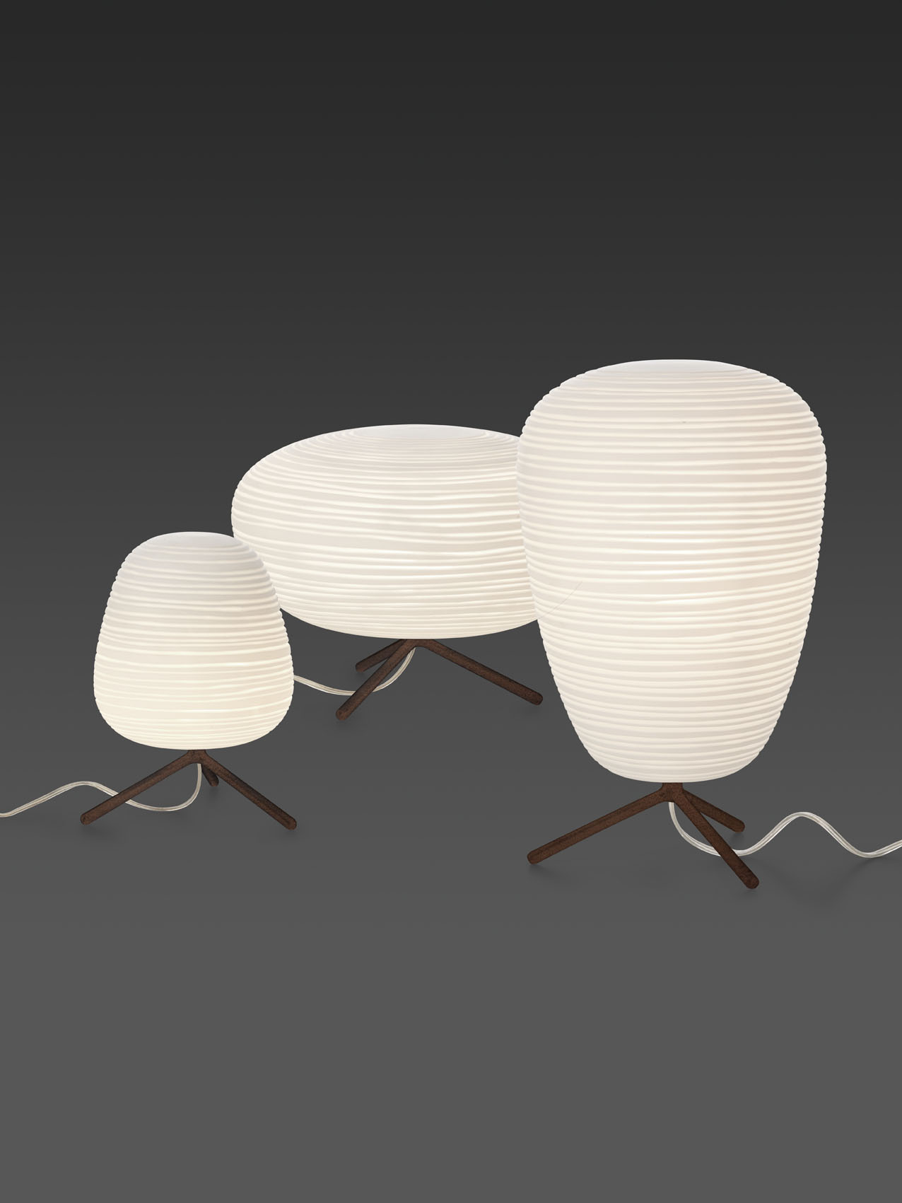 Rice paper table lamp