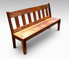 Excellent Rustic Bench With Back Ideas On Foter Machost Co Dining Chair Design Ideas Machostcouk