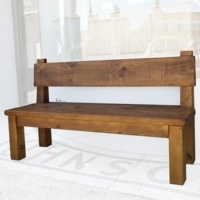 Fabulous Rustic Bench With Back Ideas On Foter Machost Co Dining Chair Design Ideas Machostcouk