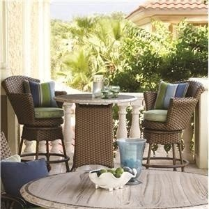 Set With Swivel Chairs Stone Tabletop By Tommy Bahama Outdoor