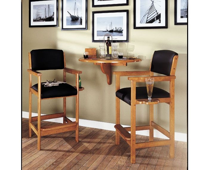Tobacco spectator chairs set of 2