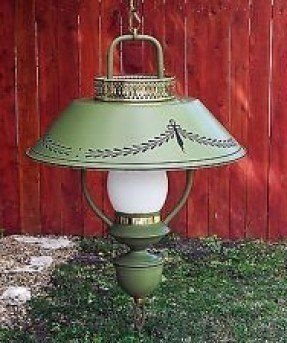 Vintage hurricane swag lamp