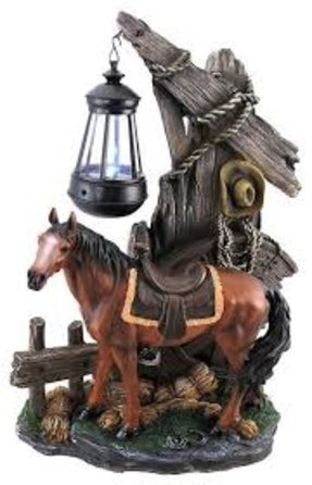Western horse table lamp 3