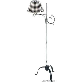 Wrought iron rustic floor lamp
