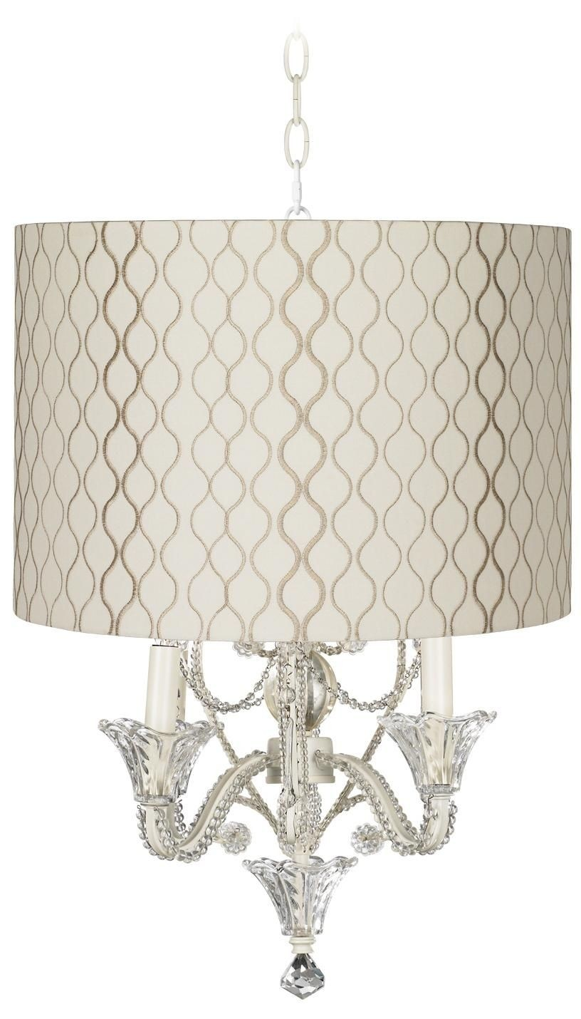 Ceiling chandelier lighting 5 candle light shabby chic floral design lace shades