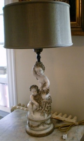 Antique cherub lamp 5