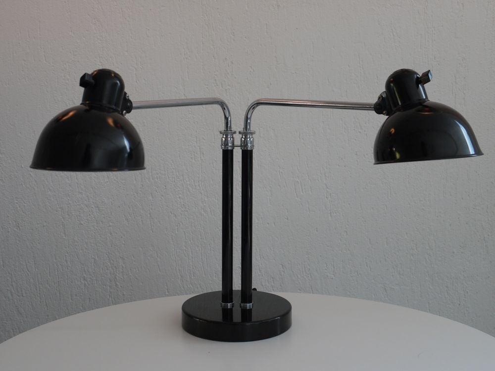 Bauhaus double arm desk lamp by christian dell image 4