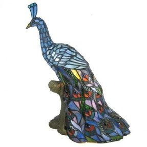 Beautiful peacock tiffany table lamp for sale