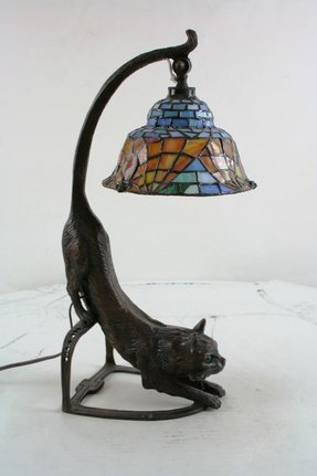 Tiffany Style Cat Lamp Foter