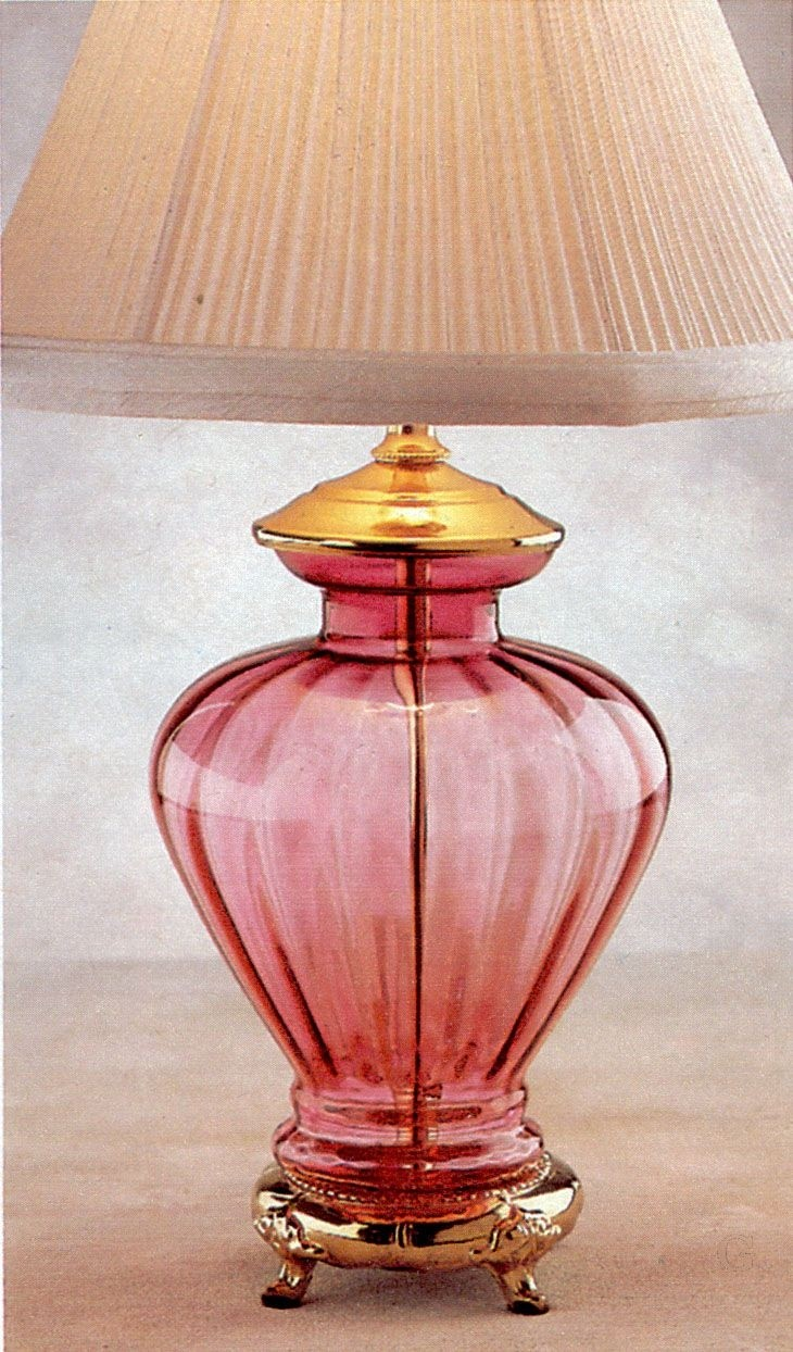 Cranberry glass lamps 1