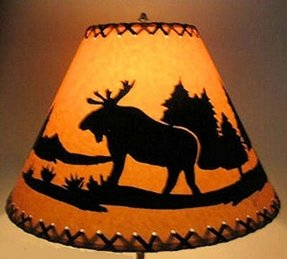 Friend send to a friend moose lamp shade 14 rustic