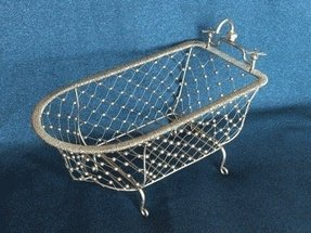 Hollys handcrafts gold bathtub basket