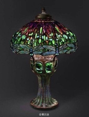 Lighted base tiffany lamp 1